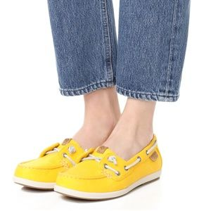 NIB Sperry Coil Ivy Boat Shoes, Yellow